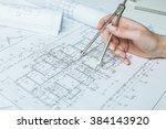 designer hands working with...   Shutterstock . vector #384143920