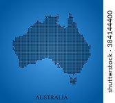 map of australia | Shutterstock .eps vector #384144400