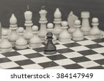 chess board with figures chess | Shutterstock . vector #384147949