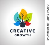 creative growth original... | Shutterstock .eps vector #384149290