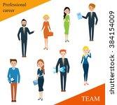 modern business people flat... | Shutterstock .eps vector #384154009