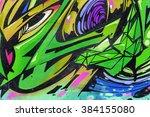 beautiful street art graffiti.... | Shutterstock . vector #384155080
