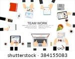 flat design illustration... | Shutterstock .eps vector #384155083