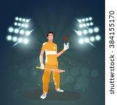 illustration of batsman holding ... | Shutterstock .eps vector #384155170