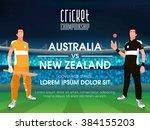 australia vs new zealand ... | Shutterstock .eps vector #384155203