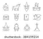 fairy tail icons set. vector... | Shutterstock .eps vector #384159214