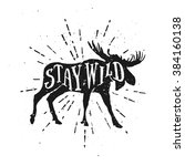 stay wild. motivational and... | Shutterstock .eps vector #384160138