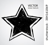 textured star used for stamps ...   Shutterstock .eps vector #384161869