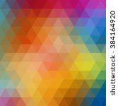 colorful triangle abstract... | Shutterstock .eps vector #384164920
