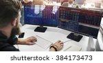 business team investment... | Shutterstock . vector #384173473