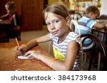 anapa sukko  russia august 23... | Shutterstock . vector #384173968