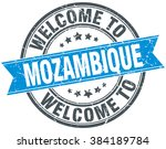 welcome to mozambique blue... | Shutterstock .eps vector #384189784