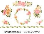 hand drawing flowers clip art | Shutterstock . vector #384190990
