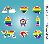 color set with gays icons for... | Shutterstock .eps vector #384195703