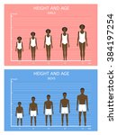 height and age. african... | Shutterstock .eps vector #384197254
