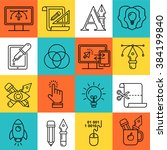 vector graphic designer icons... | Shutterstock .eps vector #384199840