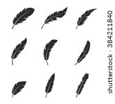 feather icons set | Shutterstock .eps vector #384211840