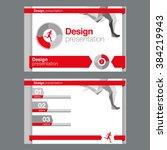 presentation template design... | Shutterstock .eps vector #384219943