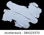 white grunge brush strokes... | Shutterstock . vector #384225370