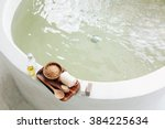 spa decoration  natural organic ... | Shutterstock . vector #384225634