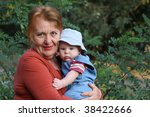 grandmother with grandson | Shutterstock . vector #38422666