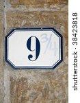 strange address number 9 3 4 on ... | Shutterstock . vector #38423818