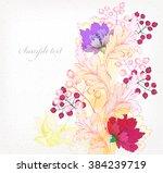 fantasy watercolor vector... | Shutterstock .eps vector #384239719