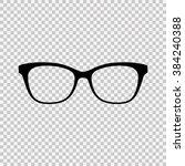 glasses icon.   Shutterstock .eps vector #384240388