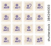 users blue icons on old paper.   Shutterstock .eps vector #384244303