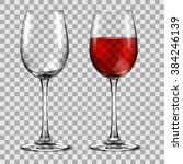 with wine glass | Shutterstock .eps vector #384246139