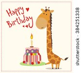 happy birthday  greeting card... | Shutterstock .eps vector #384251338