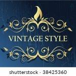vintage frame | Shutterstock .eps vector #38425360