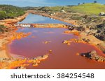 Small photo of Death and desolation in the Tinto River, Huelva, Spain. Tinto River is notable for being very acidic and its deep reddish hue is due to iron and copper dissolved in the water.