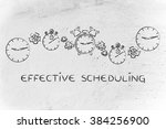 effective scheduling   time... | Shutterstock . vector #384256900