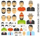 men constructor  in flat style. ... | Shutterstock .eps vector #384258580