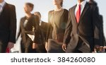 business people rush hour... | Shutterstock . vector #384260080