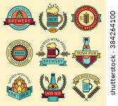 vintage craft beer retro design ... | Shutterstock .eps vector #384264100