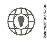 bulb   icon   isolated. flat ...