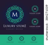 luxury letter logo. simple and... | Shutterstock .eps vector #384271039