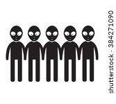alien icon illustration design | Shutterstock .eps vector #384271090