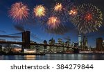 Fireworks Over Manhattan  New...