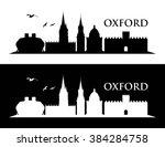 oxford uk skyline   vector