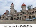 merdeka square in downtown... | Shutterstock . vector #384287314