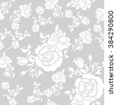 seamless pattern of floral... | Shutterstock .eps vector #384290800