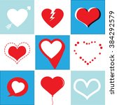 heart icons set  ideal for... | Shutterstock .eps vector #384292579