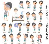set of various poses of border... | Shutterstock .eps vector #384293794