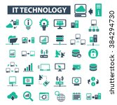 it technology icons  | Shutterstock .eps vector #384294730