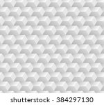 white seamless geometric... | Shutterstock .eps vector #384297130