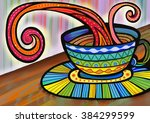 a digitally painted... | Shutterstock . vector #384299599
