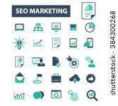 seo marketing icons  | Shutterstock .eps vector #384300268